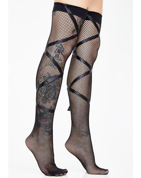 Endearingly Cute Ribbon Stockings