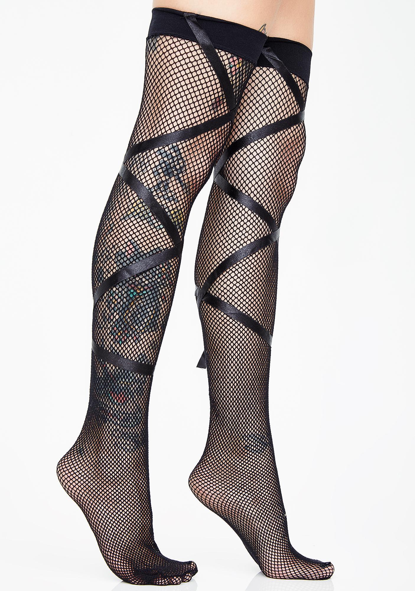 Endearingly Cute Ribbon Stockings