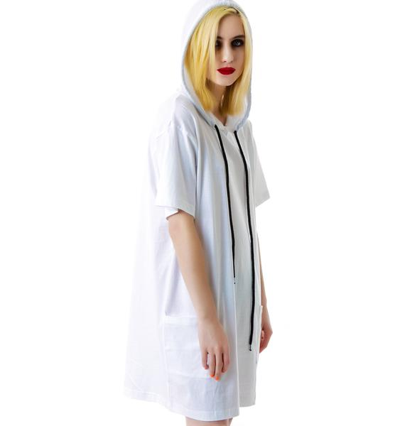 Long Clothing Hooded Tee Shirt
