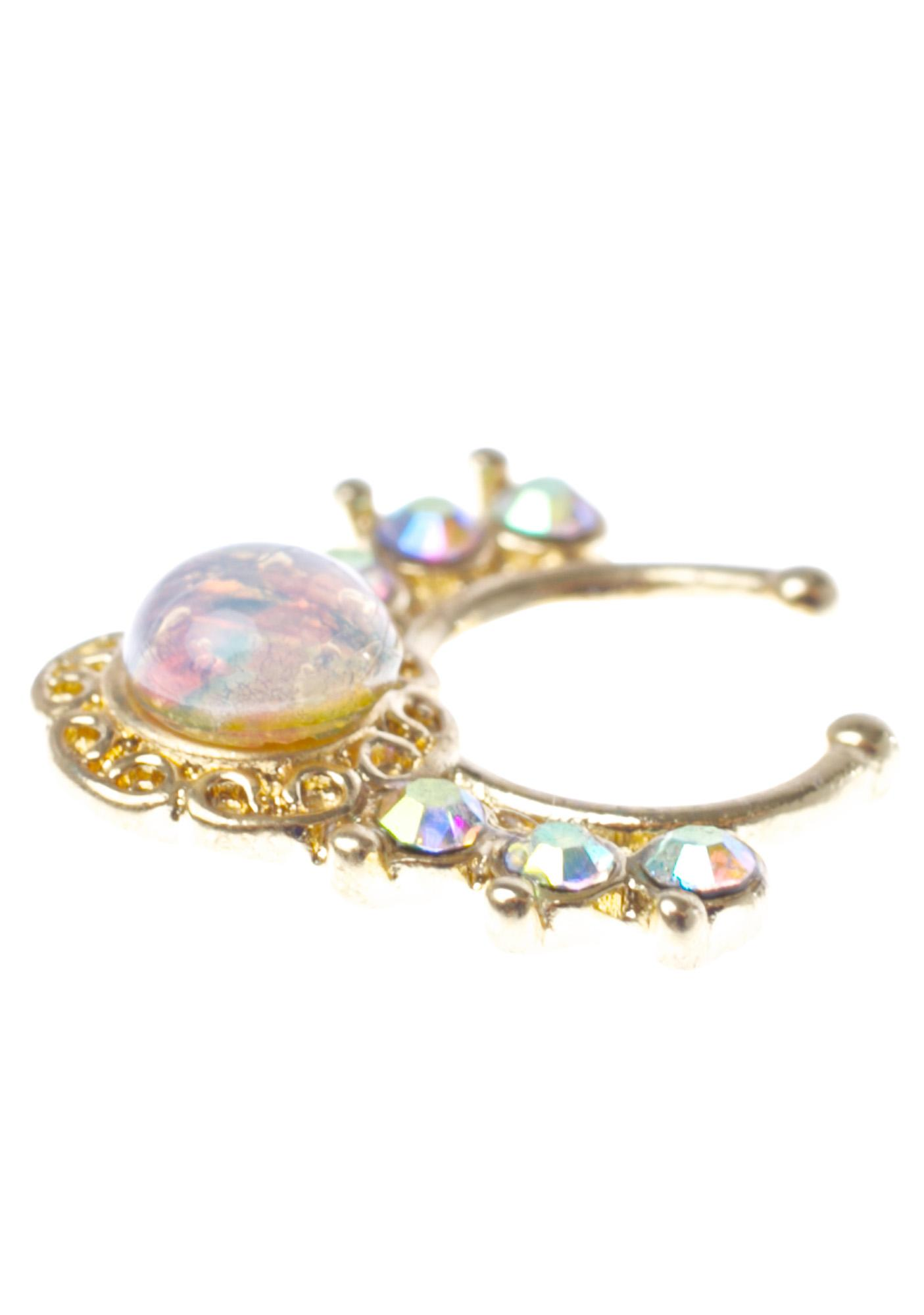 Glitter Injections Crystalline Septum Clip