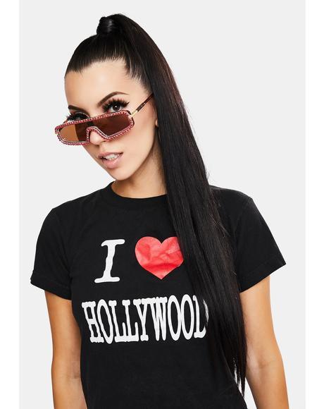 Getting Glam Rhinestone Sunglasses