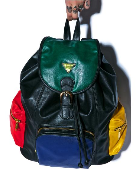 Progressive Color Block Mini Backpack