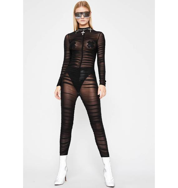 Wicked Close Encounters Sheer Jumpsuit