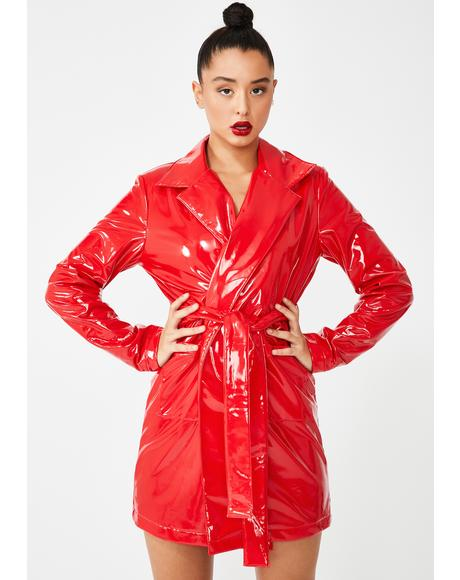 Flame Viral Vengeance Trench Coat