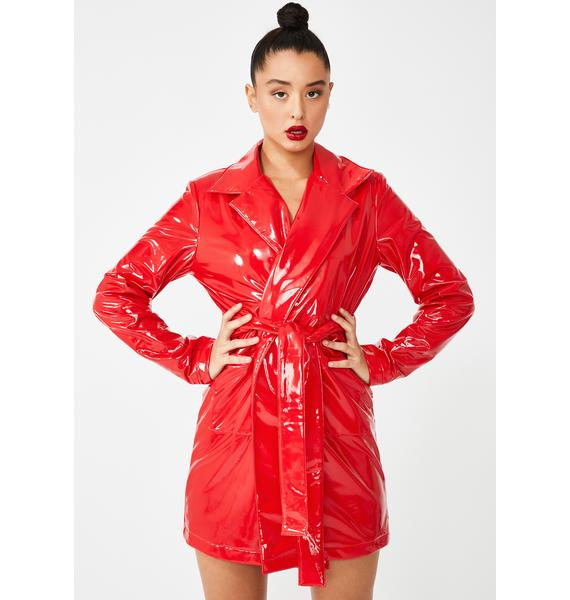 Dolls Kill Flame Viral Vengeance Trench Coat