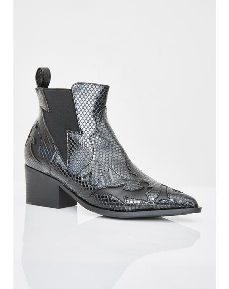 Dark Callin' For Revenge Snakeskin Boots