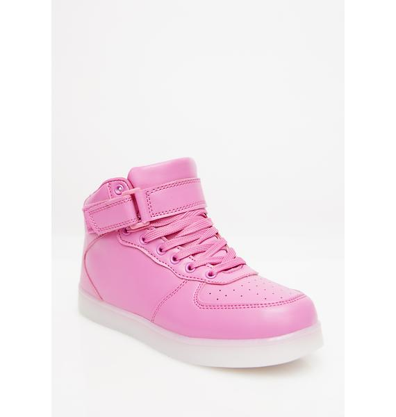 Bubblegum Chrome Invader Light Up Sneakers