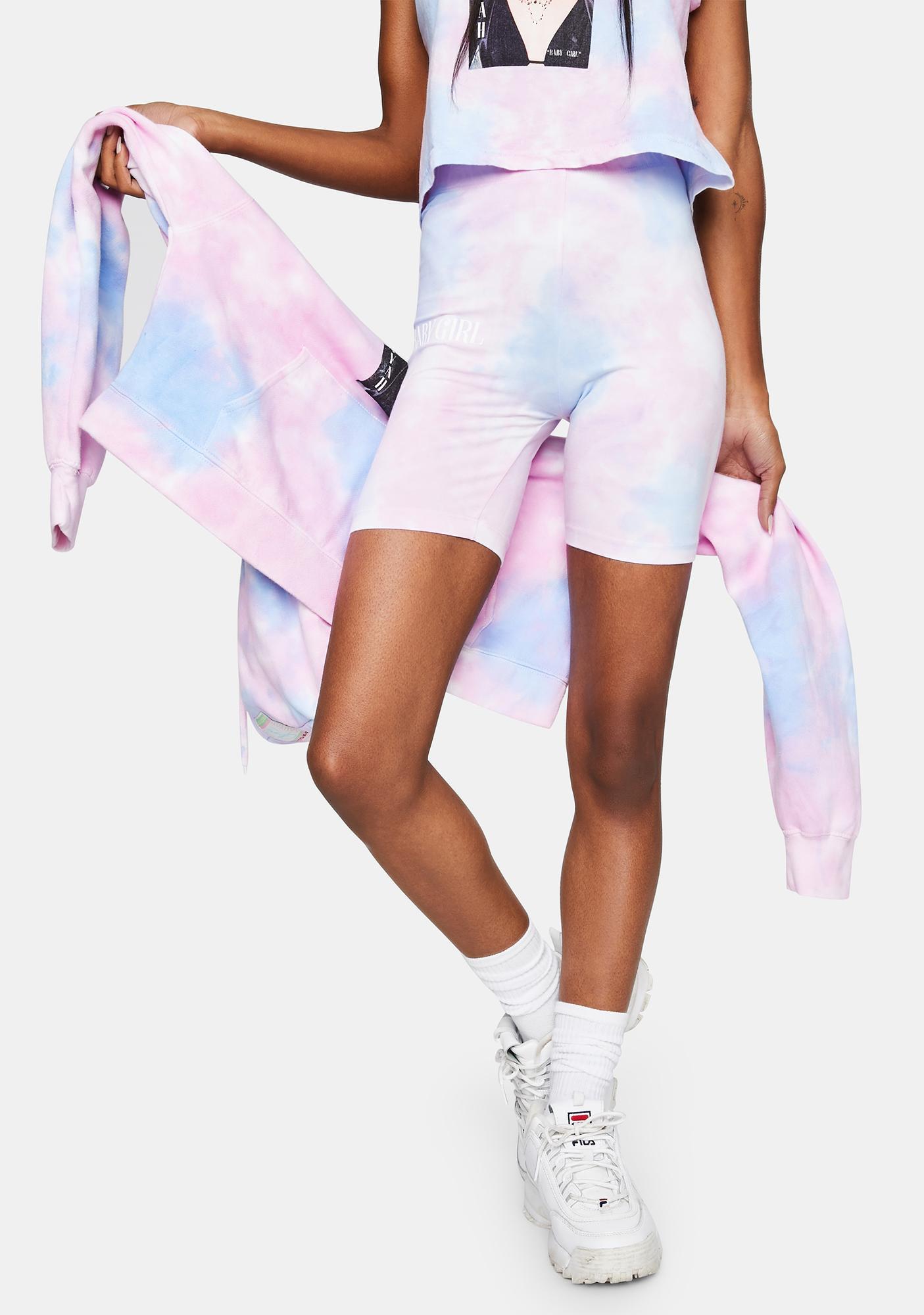 Cross Colours Aaliyah Tie Dye Biker Shorts