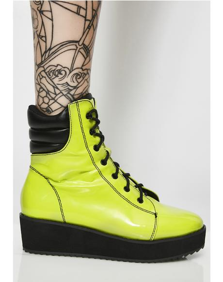Neon Darby Boots