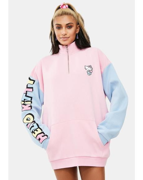 Hello Kitty Color Contrast Panel Sweatshirt
