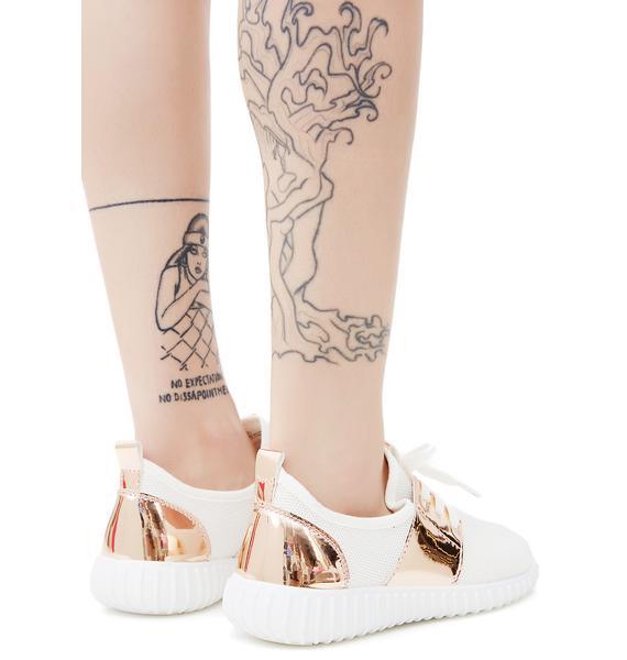 Rose Gold Precious Metals Sneakers