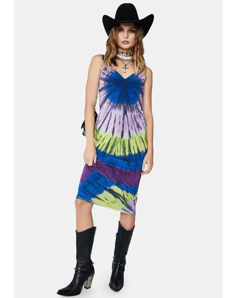 Night Halo Tie Dye Amina Maxi Dress