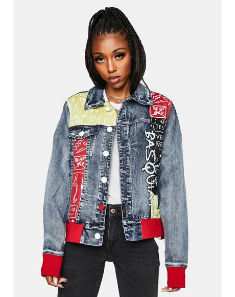 X Basquiat JMB Denim Jacket