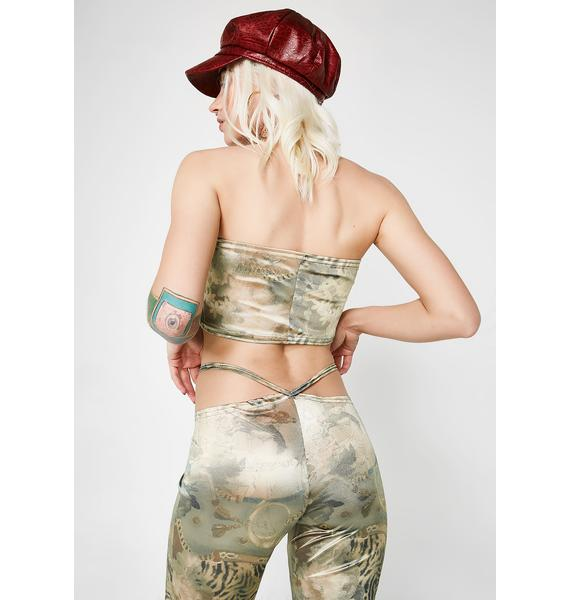 American Deadstock X Internet Girl Silk Road Satin Pants