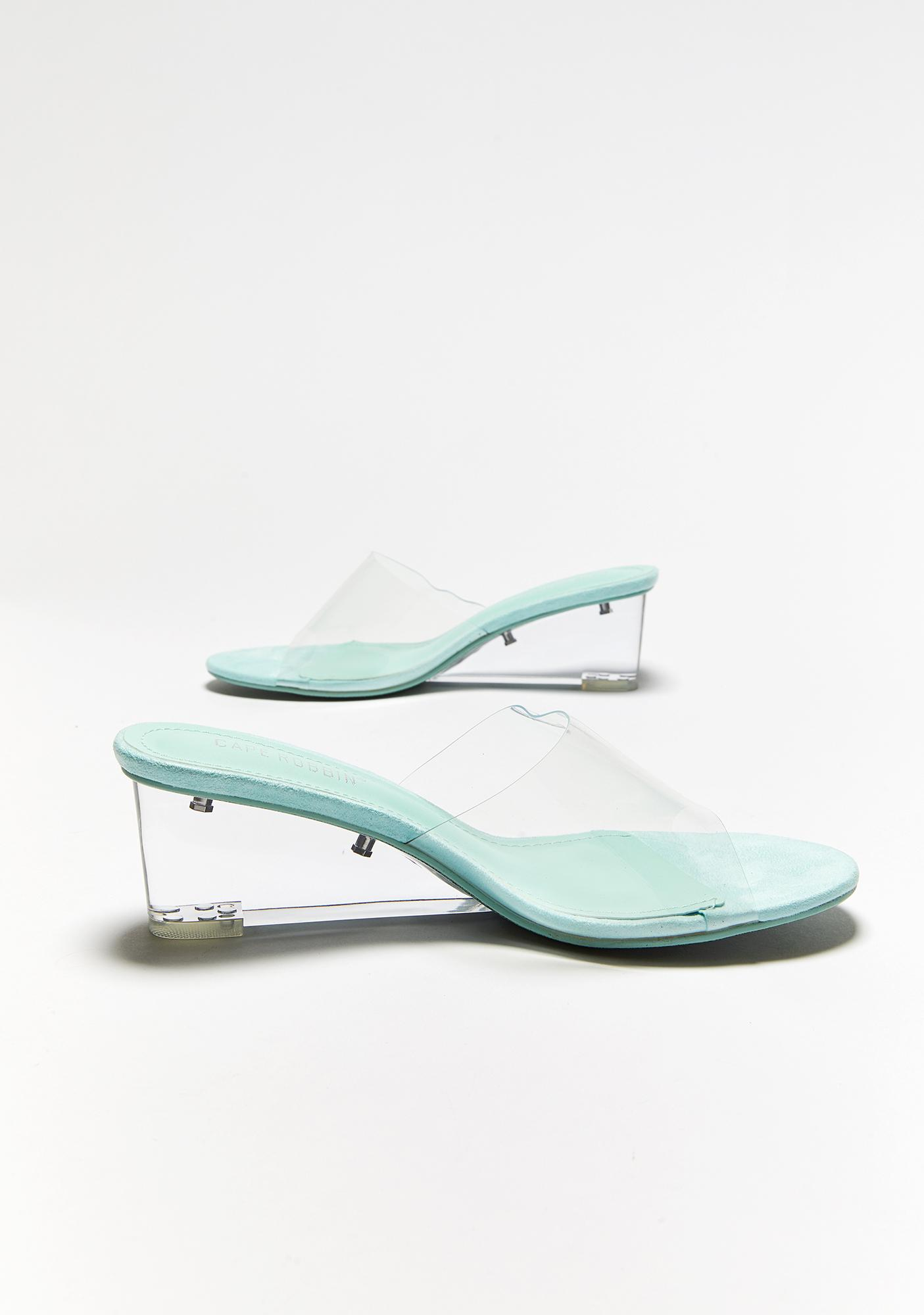 To Be Clear Slip On Heels