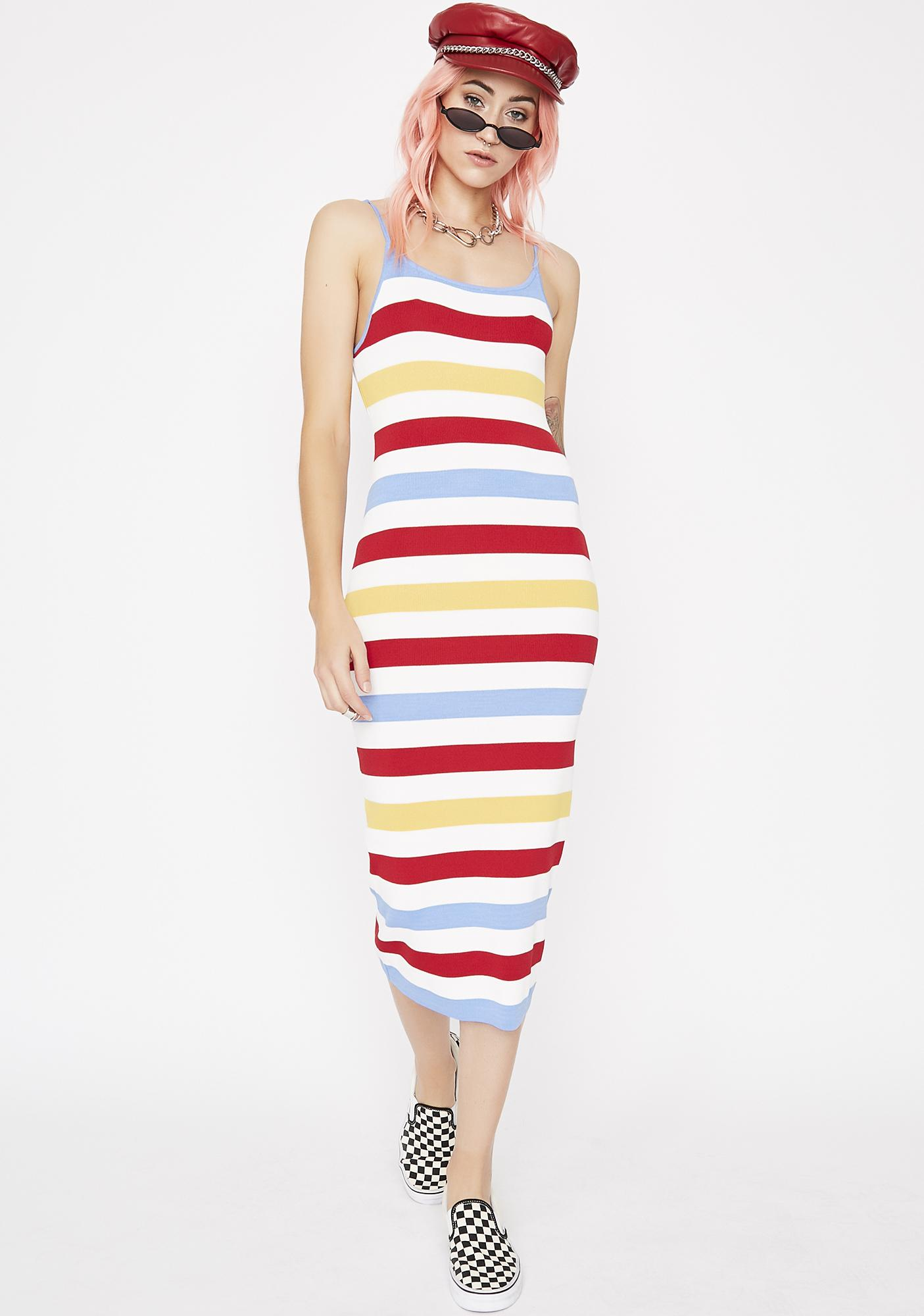 Reel 'Em In Striped Dress