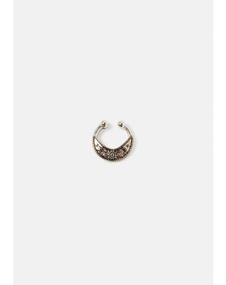 Gaze At You Star & Moon Nose Ring