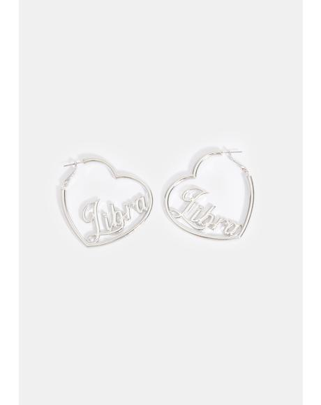 Kind Hearted Libra Hoop Earrings