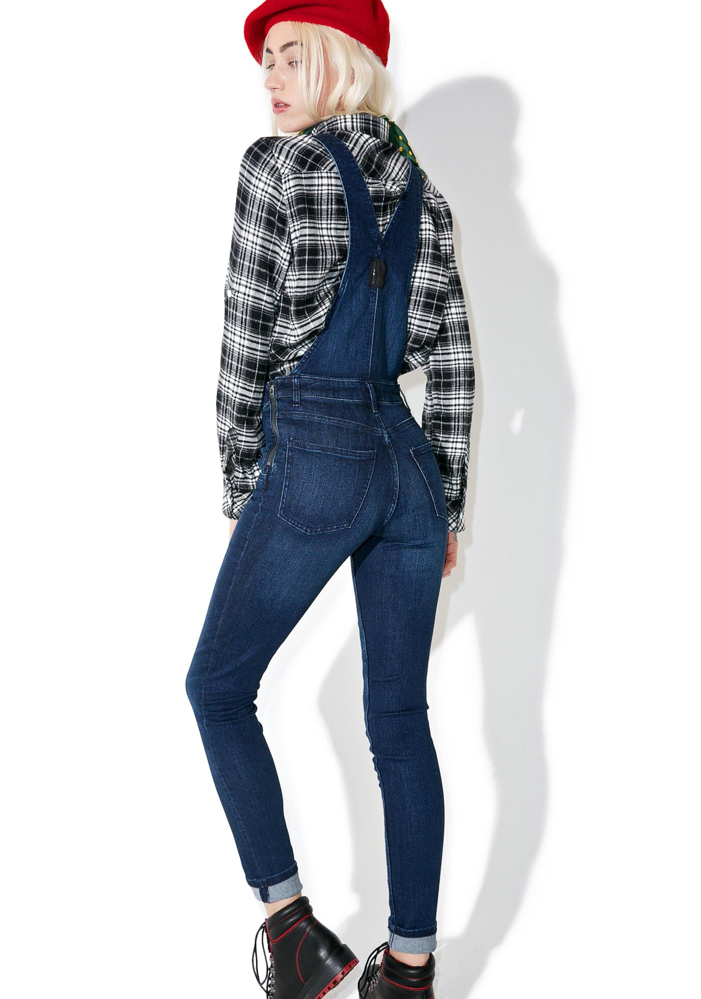 Cheap Monday Ink Blue Skinny Dungarees