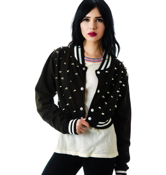 The Ragged Priest The  Margot Studded Crop Bomber