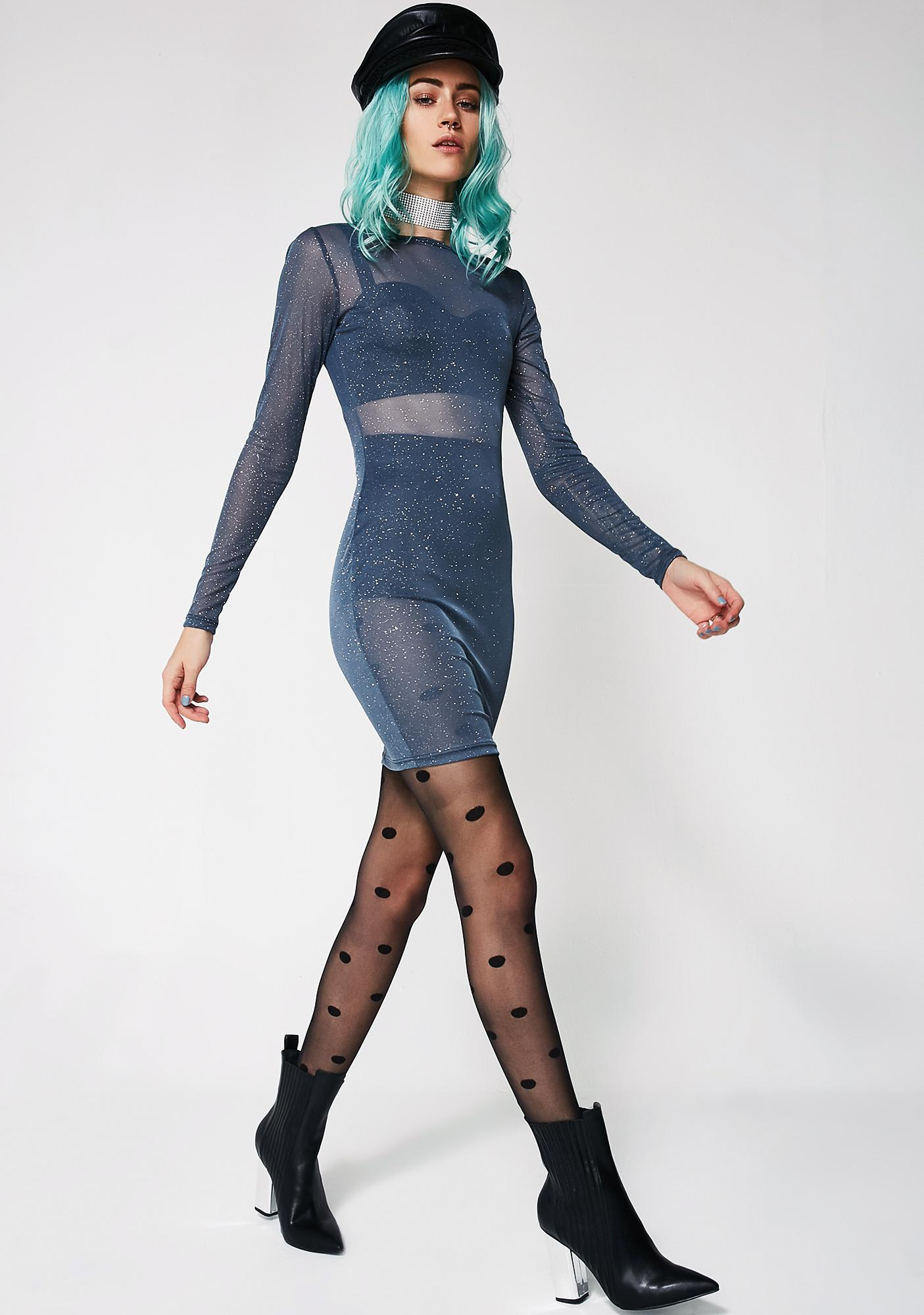It's Complicated Sheer Mini Dress