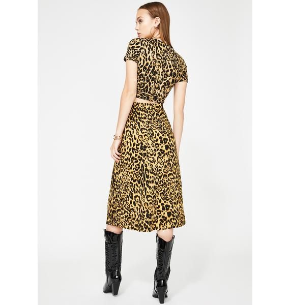 Motel Leopard Saika Skirt