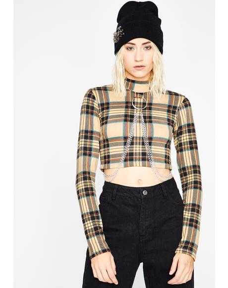 Twisted Trick Long Sleeve Crop Top