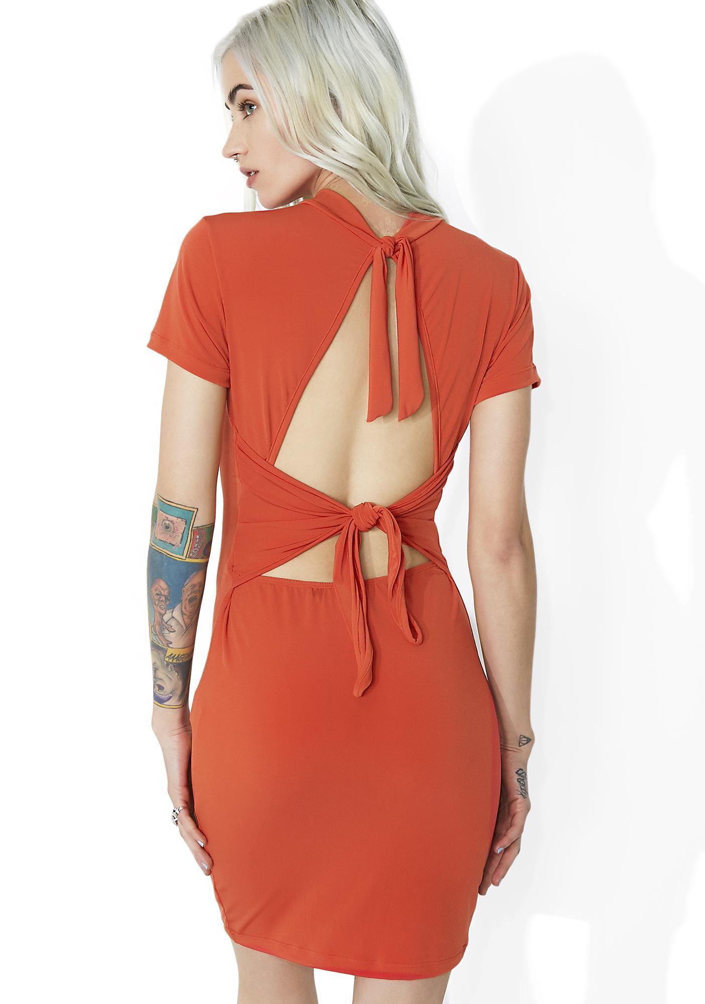 Motel Sunrise Koney Knot Dress