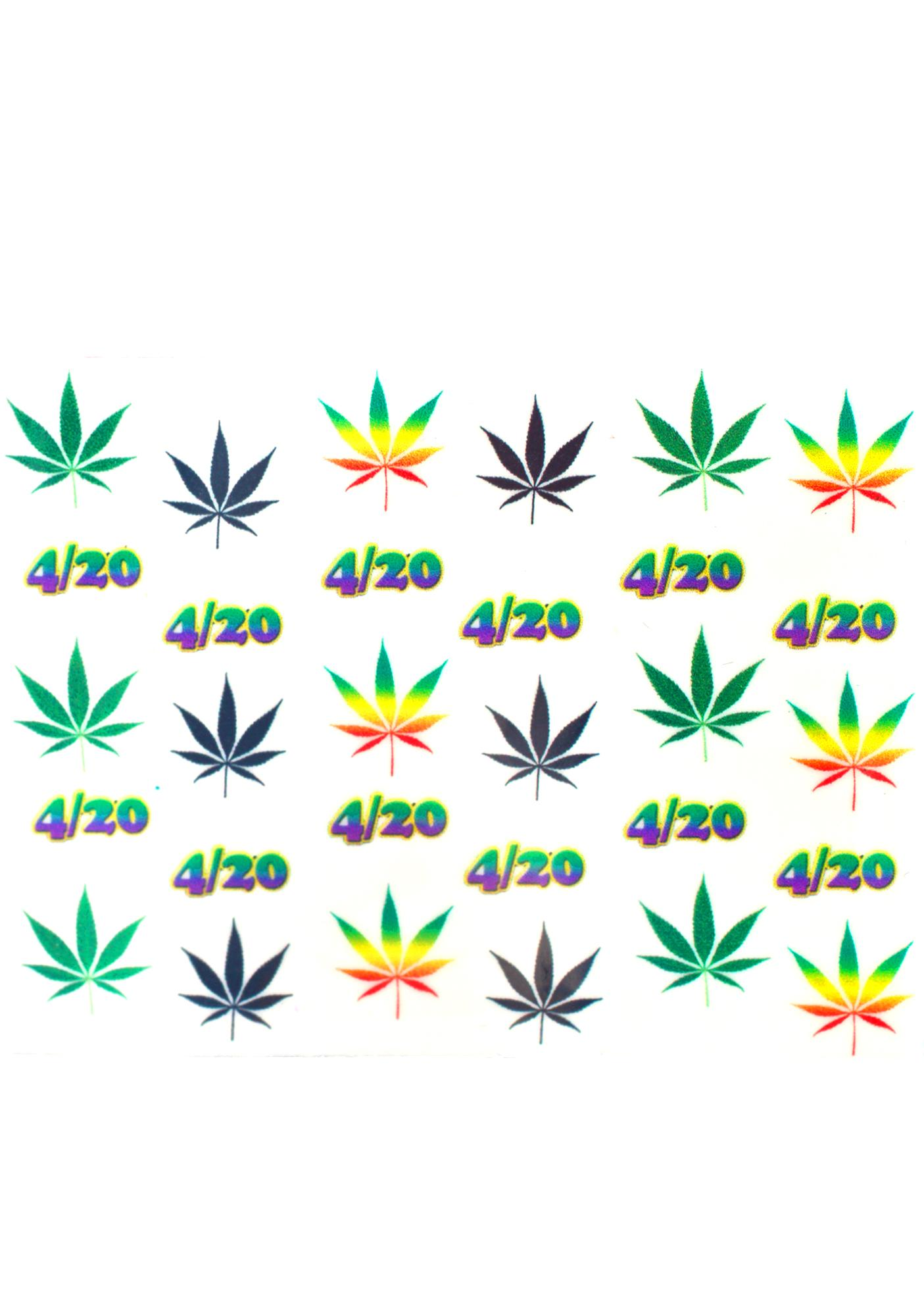 Weed Be Good Together Nail Decals