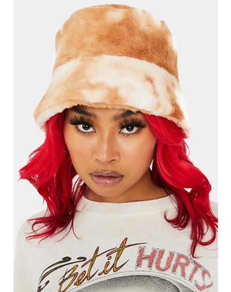 Nude Cuddle Up Buttercup Bucket Hat