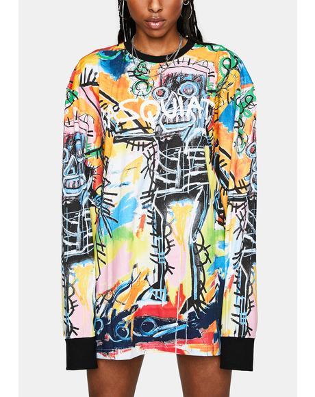 X Basquiat Catch All Long Sleeve Tee