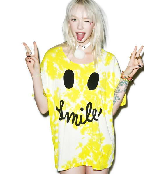 Petals and Peacocks Smile Tee