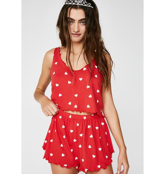Wildfox Couture Falling Hearts Shorts