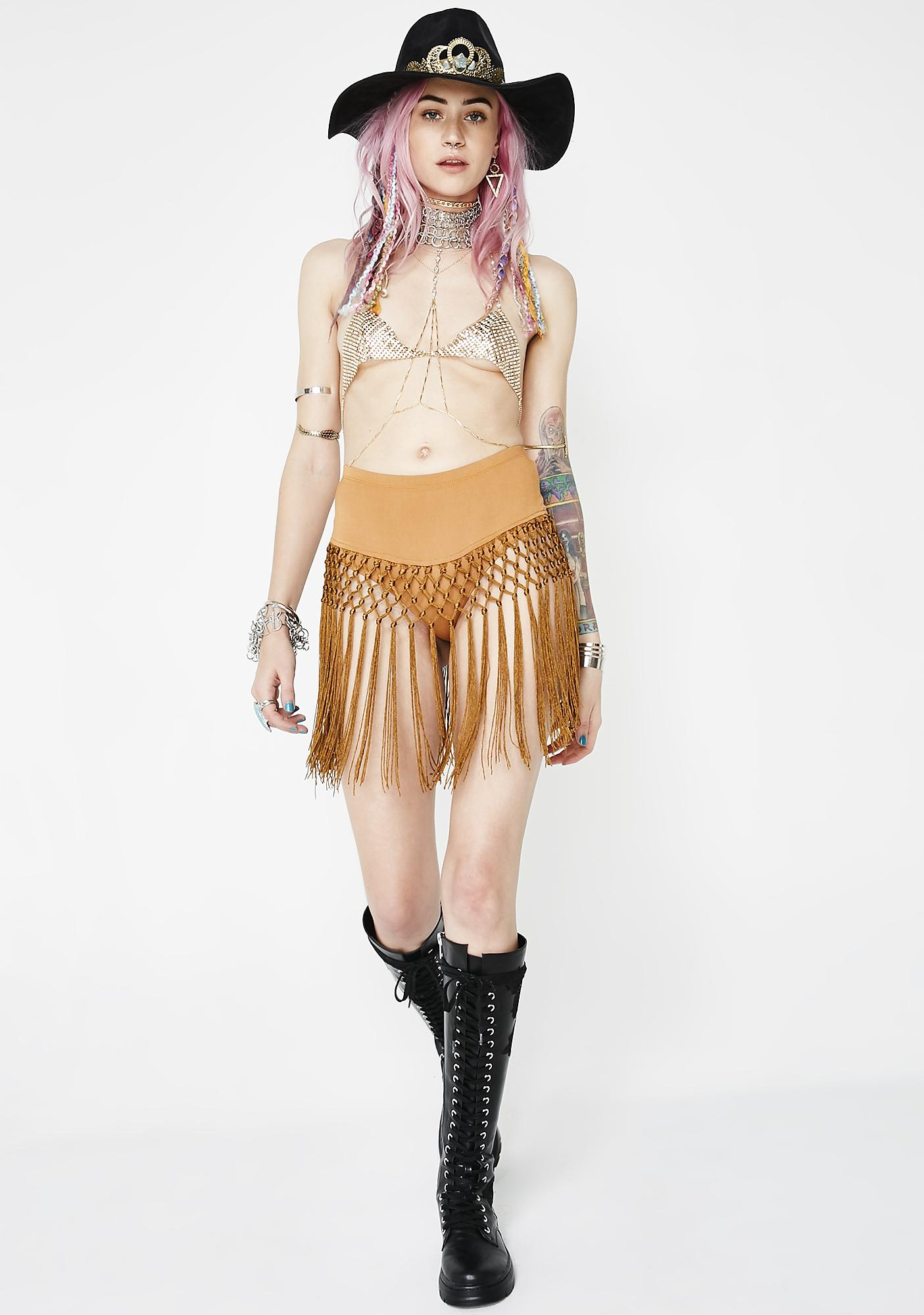 Far Out Fringe Freak Skirt