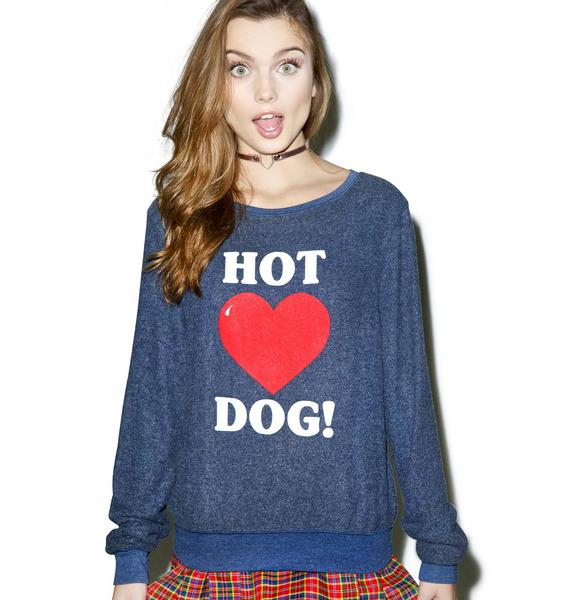 Wildfox Couture Hot Dog Love Baggy Beach Jumper