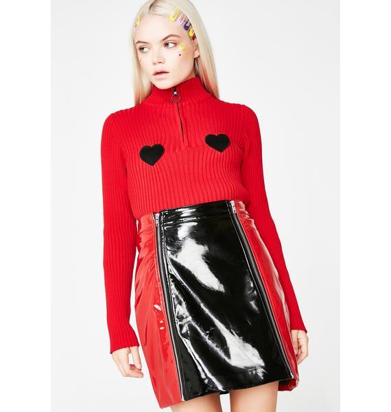 Lazy Oaf Zip Panel Skirt