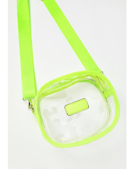 Glowing Sass Clear Crossbody Bag