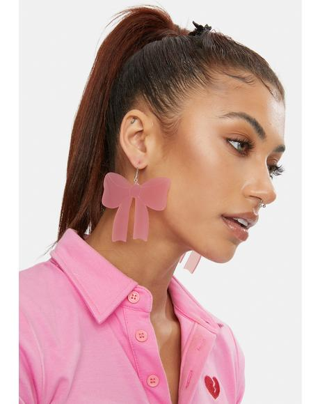 Sweet Girl Bow Earrings