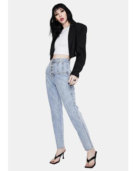 Siren Tapered High Waist Jeans