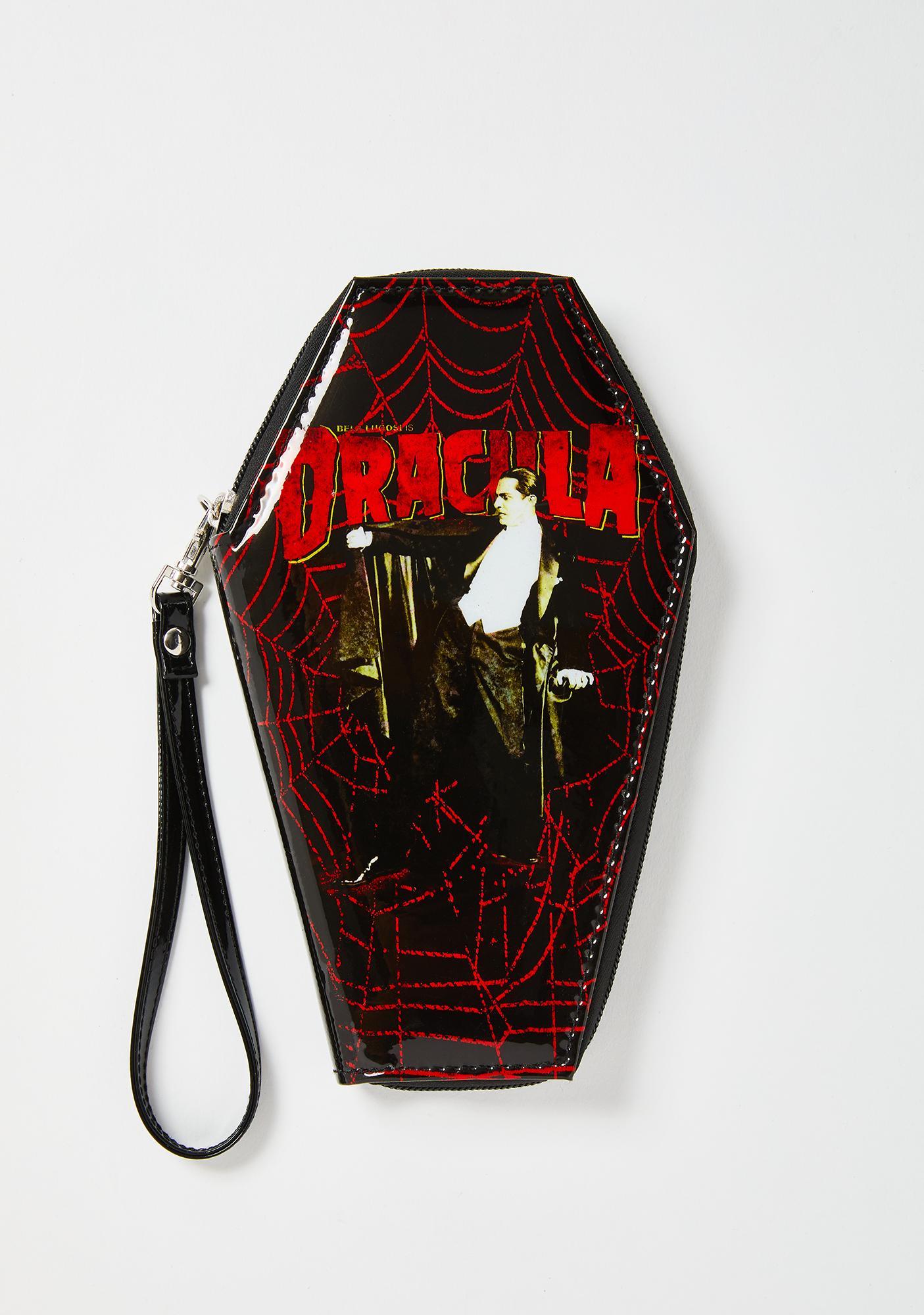 Rock Rebel Dracula Web Coffin Wallet