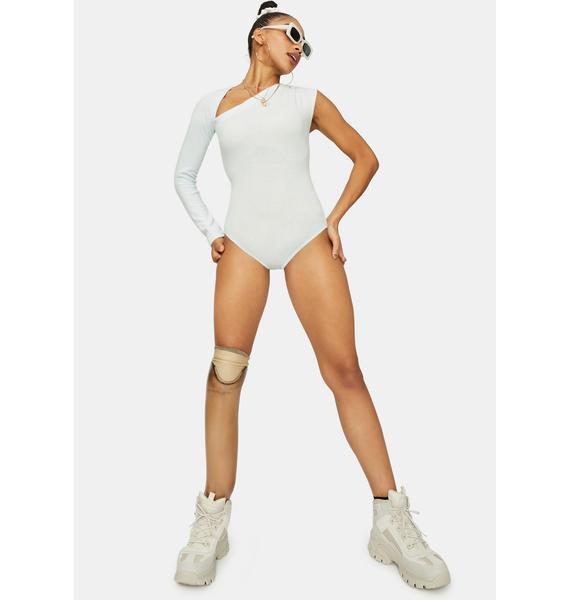 Ice Hot Take Asymmetrical One Sleeve Bodysuit