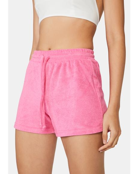 Fuchsia Not Playing Games Lounge Shorts