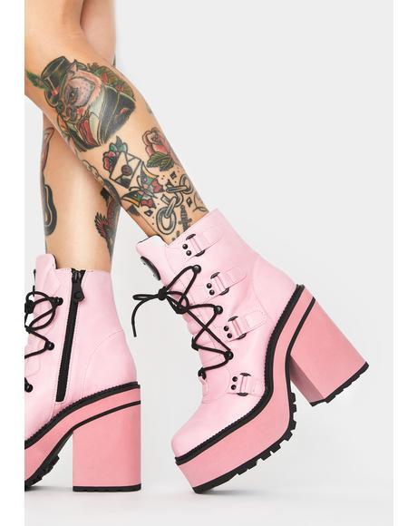 Pink Broom Rider Boots