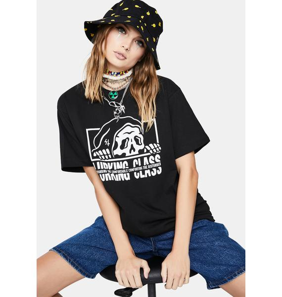 Lurking Class Black Torn Short Sleeve Graphic Tee