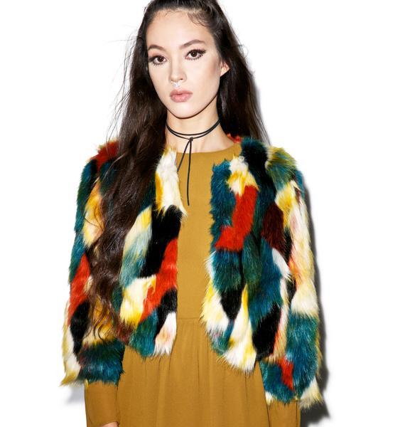 Glamorous Rustic Rituals Faux Fur Jacket