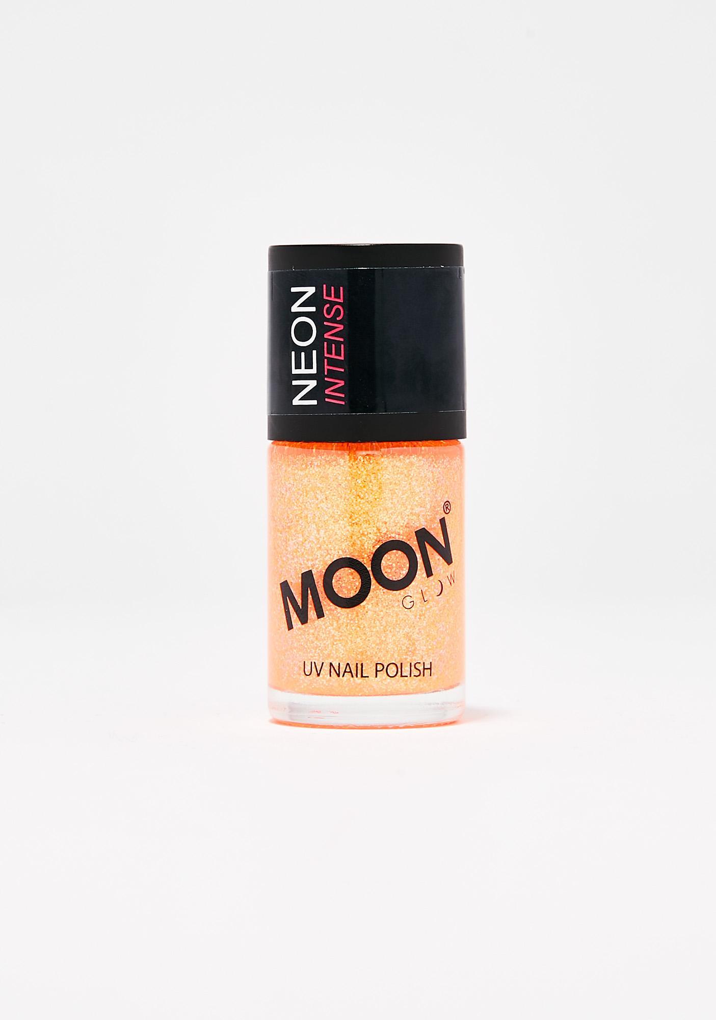 Moon Creations Neon Orange UV Glitter Nail Varnish