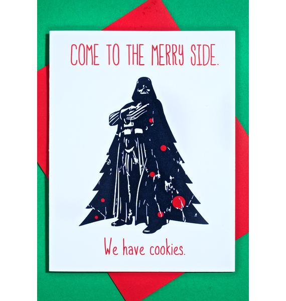 Merry Side Christmas Card
