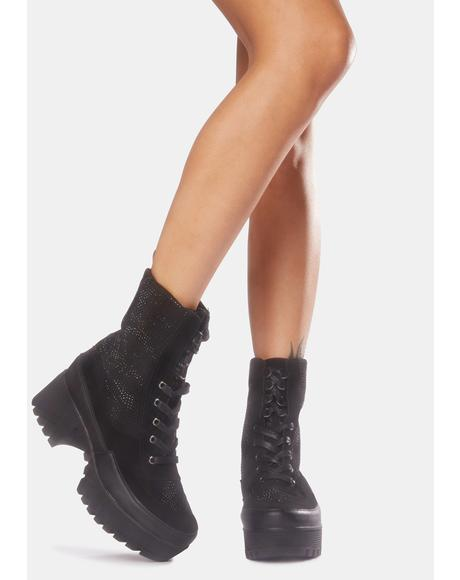Glam Soldier Combat Boots