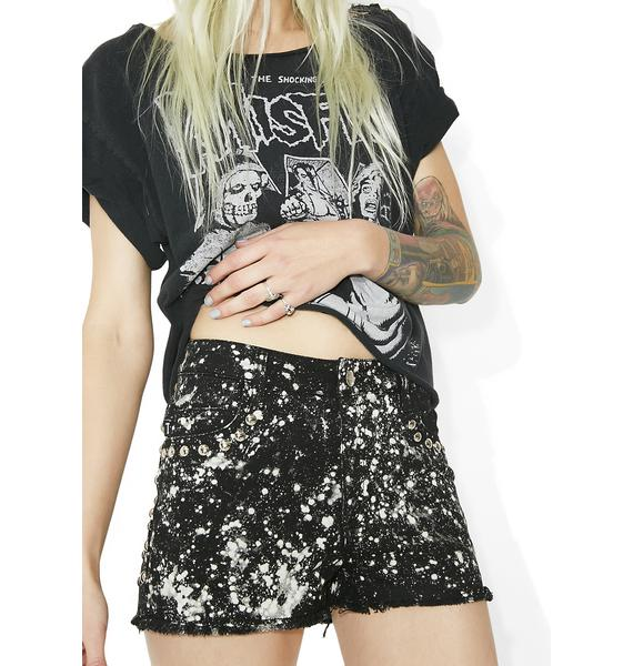 Tripp NYC Bleach Stud Shorts