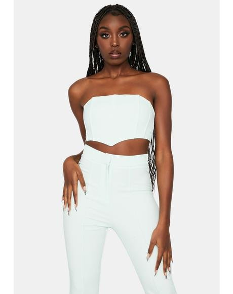 Round The Bend Tube Top Pants Set